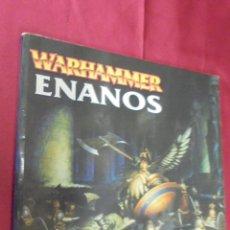 Libros: EJÉRCITOS WARHAMMER. ENANOS. GAMES WORRKSHOP. Lote 52467122