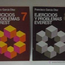 Libros: EJERCICIOS Y PROBLEMAS EVEREST Nº 7 Y 8. Lote 53773916