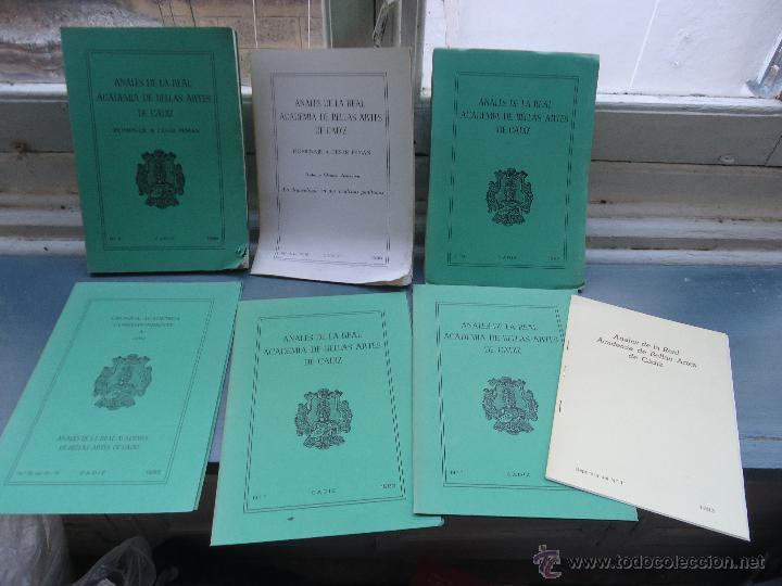CADIZ ANALES DE LA REAL ACADEMIA DE BELLAS ARTES 1983 1985 1986 IMAGENES SEMANA SANTA (Libros sin clasificar)