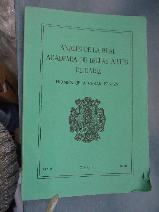 Libros: CADIZ ANALES DE LA REAL ACADEMIA DE BELLAS ARTES 1983 1985 1986 IMAGENES SEMANA SANTA - Foto 5 - 54079017