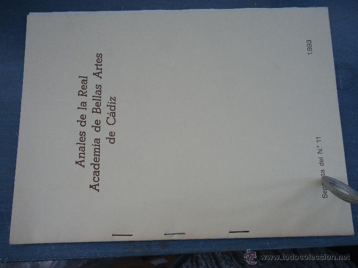 Libros: CADIZ ANALES DE LA REAL ACADEMIA DE BELLAS ARTES 1983 1985 1986 IMAGENES SEMANA SANTA - Foto 6 - 54079017
