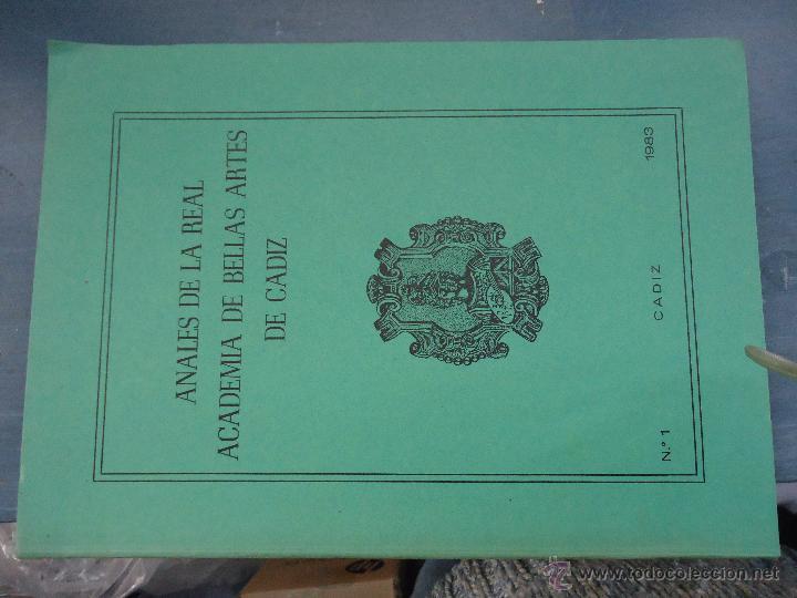 Libros: CADIZ ANALES DE LA REAL ACADEMIA DE BELLAS ARTES 1983 1985 1986 IMAGENES SEMANA SANTA - Foto 7 - 54079017