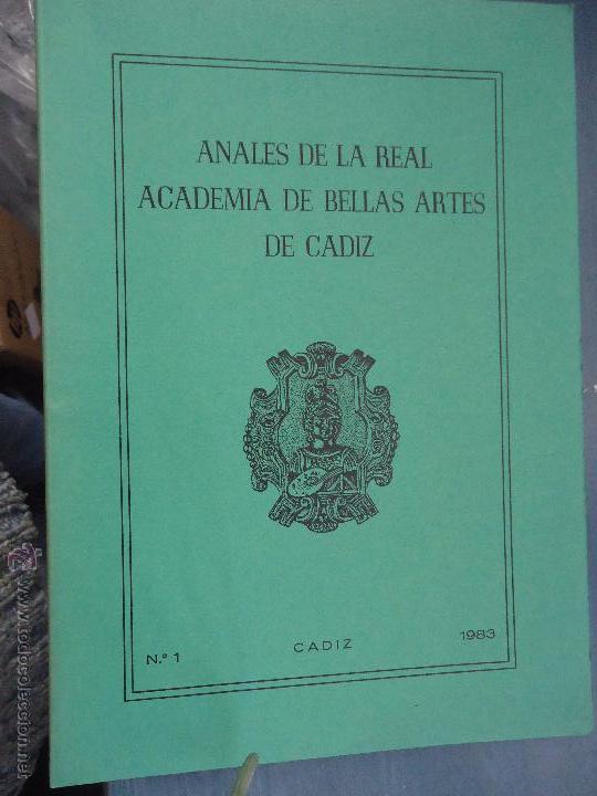 Libros: CADIZ ANALES DE LA REAL ACADEMIA DE BELLAS ARTES 1983 1985 1986 IMAGENES SEMANA SANTA - Foto 8 - 54079017
