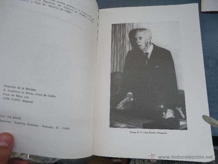 Libros: CADIZ ANALES DE LA REAL ACADEMIA DE BELLAS ARTES 1983 1985 1986 IMAGENES SEMANA SANTA - Foto 25 - 54079017