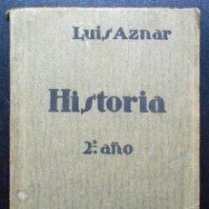 Libros: HISTORIA 2º AÑO - LUIS AZNAR - TEXTO ELP - AÑO?. Lote 54082232
