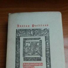 Libros: JUSTAS POETICAS SEVILLANAS DEL SIGLO XVI ( SEVILLA 1531-1542). Lote 54099369