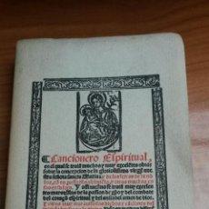 Libros: CANCIONERO ESPIRITUAL AÑO 1954 ( VALLADOLID 1549 ). Lote 54099546