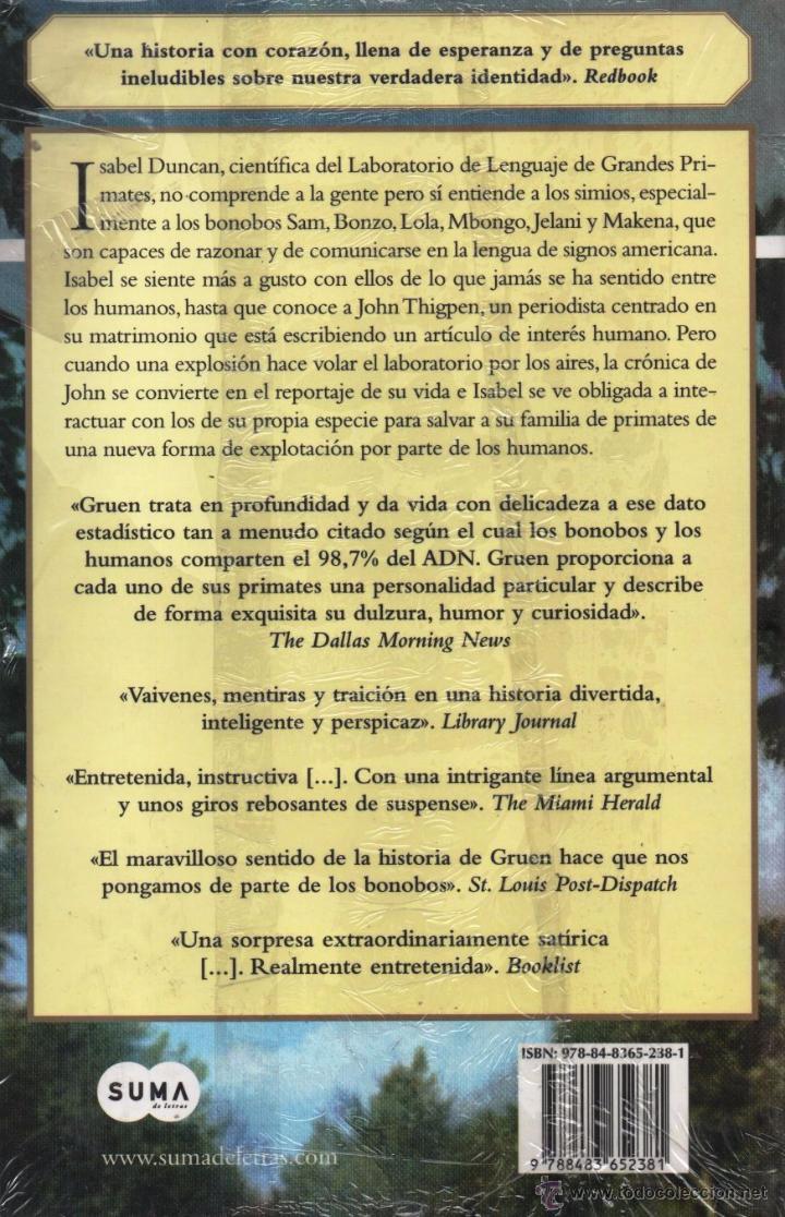 Libros: LA CASA DE LOS PRIMATES de SARA GRUEN - SUMA, 2011 - Foto 2 - 54154037