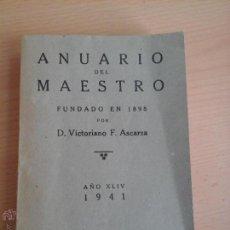 Libros: ANUARIO DEL MAESTRO 1941. Lote 53742731