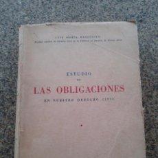 Libros: ESTUDIO DE LAS OBLIGACIONES EN NUESTRO DERECHO CIVIL -- LUIS MARIA REZZONICO - NUENOS AIRES - 1949. Lote 54669662