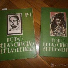 Libros: FORO DE LAS CIENCIAS Y DE LAS LETRAS. NºS 1 Y 2. EDITA COLEGIO DE DOCTORES Y LICENCIADOS... (1981). Lote 54942422