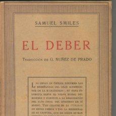 Libros: EL DEBER. Lote 55473202