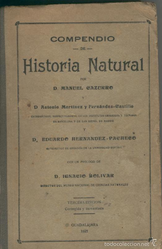 COMPENDIO DE HISTORIA NATURAL (Libros sin clasificar)