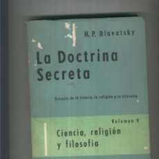 Libros: LA DOCTRINA SECRETA VOLUMEN V. Lote 55624576