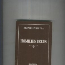 Libros: HOMILIES BREUS. Lote 55639615