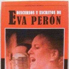 Libros: EVA PERON - DISCURSOS Y ESCRITOS - EDICIONES NUEVA REPUBLICA 2013. Lote 55723175