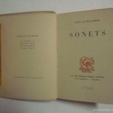 Libros: JOAN LLONGUERES. SONETS. EDITORIAL ESTEL 1938. EDICIÓN NUMERADA.. Lote 55810510