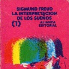 Libros: LA INTERPRETACIN DE LOS SUEOS. VOL. 1.. Lote 55818730