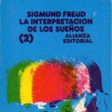 Libros: LA INTERPRETACIN DE LOS SUEOS. VOL. 2.. Lote 55818731