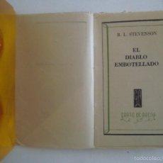 Libros: LIBRO MINIATURA. R.L. STEVENSON. EL DIABLO EMBOTELLADO. ED. GRANO DE ARENA 1941. Lote 55862052