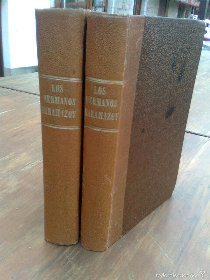Libros: Dostoievski, Fiodor - Los hermanos karamazov (Sempere ,1942..) primera edición integra en castellano - Foto 2 - 56025919