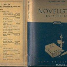 Libros: NOVELISTAS ESPAOLES. Lote 56211022