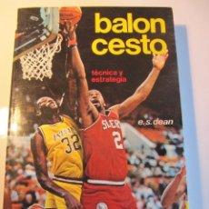 Libros: BALONCESTO TÉCNICA Y ESTRATEGIA HISPANO EUROPEA 1989 E.S. DEAN. Lote 56247740