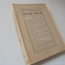 Libros: NOTAS Y COMUNICACIONES DEL INSTITUTO GEOLÓGICO Y MINERO DE ESPAÑA-AÑO 1953-Nº.31. Lote 56653649