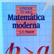 Libros: MATEMÁTICA MODERNA. Lote 56689342