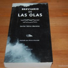 Libros: BREVIARIO DE LAS OLAS. JAVIER SÁINZ MORENO. Lote 56888193