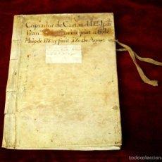 Libros: DO-087. COPIADOR DE CARTAS DE FRANCISCO SEGUÍ. TAPAS PERGAMINO. ESPAÑA. 1783.. Lote 56935504