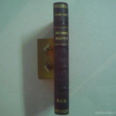 Libros: DALMAU CARLES. SOLUCIONES ANALÍTICAS.LIBRO DEL MAESTRO. 1942. ENCUADERNACIÓN PIEL. Lote 57565351