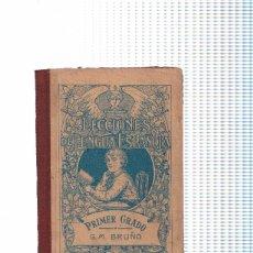 Libros: LECCIONES DE LENGUA ESPAOLA.PRIMER AO O CURSO ELEMENTAL. Lote 57622414