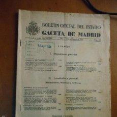 Libros: BOLETIN OFICIAL DEL ESTADO BOE GACETA DE MADRID 10 DICIEMBRE DE 1968 N 296 . Lote 57747323