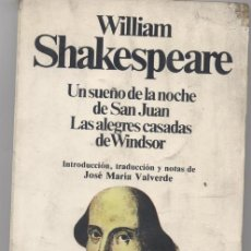 Libros: WILLIAM SHAKESPEARE- PLANETA. Lote 58074063