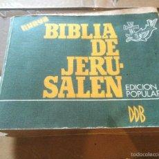 Libros: ANTIGUO LIBRO DE LA BBILIA DE JERUSALEN EDICION POPULAR AÑO 1976. Lote 58300836
