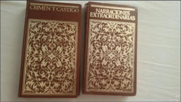 LOTE DE 2 LIBROS CRIMEN Y CASTIGO Y NARRACIONES EXTRAORDINARIAS (Libros sin clasificar)
