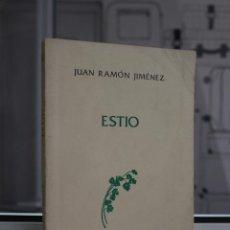 Libros: ESTIO, JUAN RAMON JIMENEZ. EDICION DEL CENTENARIO. TAURUS 1982. Lote 58541849