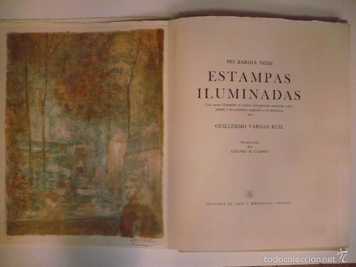 Libros: ESTAMPAS ILUMINADAS. - BAROJA NESSI, PÍO; VARGAS RUIZ, GUILLERMO. - Foto 2 - 59748004