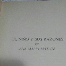 Libros: LIBRO EL NIÑO Y SUS RAZONES AÑO 71. Lote 60144373