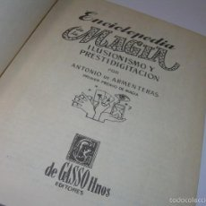Libros: MAGIA ILUSIONISMO Y PRESTIDIGITACION........CON GRABADOS.. Lote 60179631