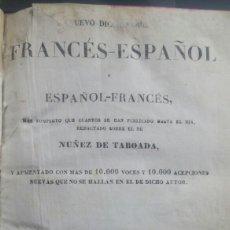 Libros: LIBRO DICCIONARIO FRANCES ESPAÑOL 1840 TOMO 1. Lote 61423018