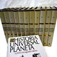 Libros: HISTORIA UNIVERSAL PLANETA (12 VOL.). Lote 42001572