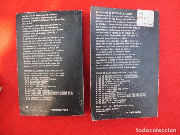 Libros: ASIMOV ISAAC LOTE 5 LIBROS BOVEDAS ACERO SOL DESNUDO EDAD ORO LOS PROPIOS DIOSES SATURNO.. - Foto 5 - 61918872
