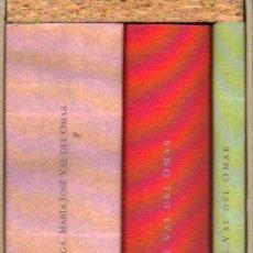 Livros em segunda mão: VAL DEL OMAR SIN FIN (3 TOMOS EN ESTUCHE: I. VAL DEL OMAR SIN FIN / II. TIENTOS DE EROTICA CELESTE /. Lote 51311639