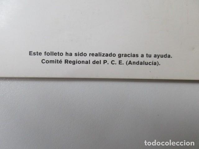 Libros: Proyecto del Programa regional del Partido comunista de España en Andalucia. PCE. 1977 - Foto 2 - 63111060