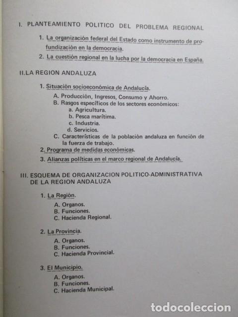 Libros: Proyecto del Programa regional del Partido comunista de España en Andalucia. PCE. 1977 - Foto 4 - 63111060