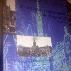 Libros: PROTOCOLOS TERAPÉUTICOS DE URGENCIAS / LLORET CARBÓ, JOSEP / OBRA NUEVA. Lote 63474484