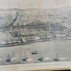 Libros: LÁMINA SUPLEMENTO LA ILUSTRACIÓN ESPAÑOLA Y AMERICANA. 1888. PUERTO DE BARCELONA EXPOSICIÓN UNIVERSA. Lote 60966493