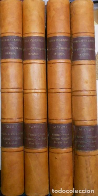 FIGURAS CUMBRE DEL ARTE CONTEMPORANEO ESPAÑOL, 20 VOLUMENES EN 4 ESTUCHES CON LOMO EN PIEL 27X39 CMS (Libros sin clasificar)